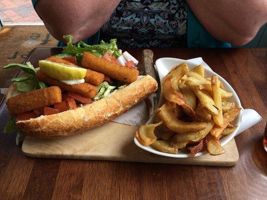 The Corner Cafe: The fish finger sandwich