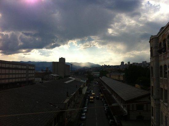 Hostel Aston: Terrassenausblick