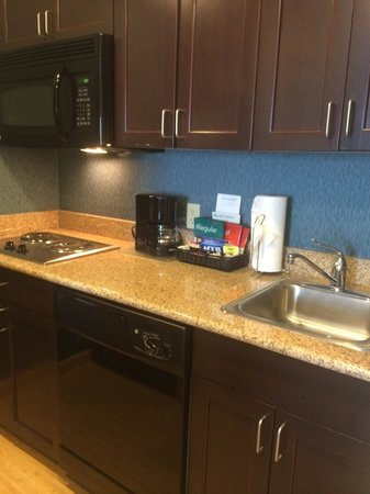 Homewood Suites by Hilton Fort Myers Airport / FGCU: What a Great Surprise! Modern Kitchenette,Dishwasher,Full size fridge: )