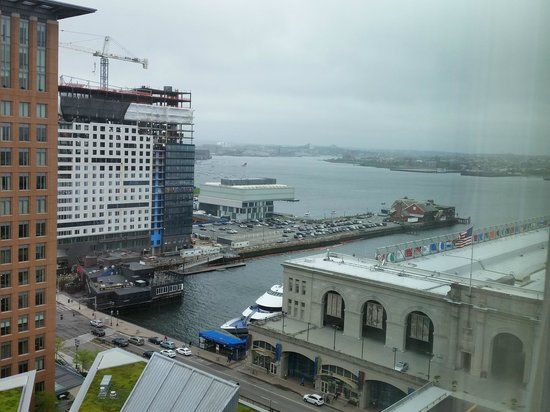 Seaport Boston Hotel : View of the harbor from Room 1812