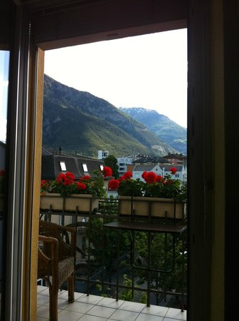 View out to our balcony, Ambassador Hotel, Brig