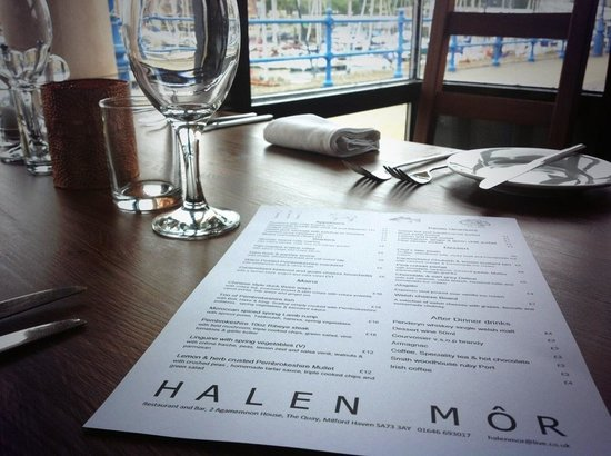 Halen Mor: Restaurant