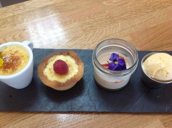 Halen Mor: Trio Of Desserts