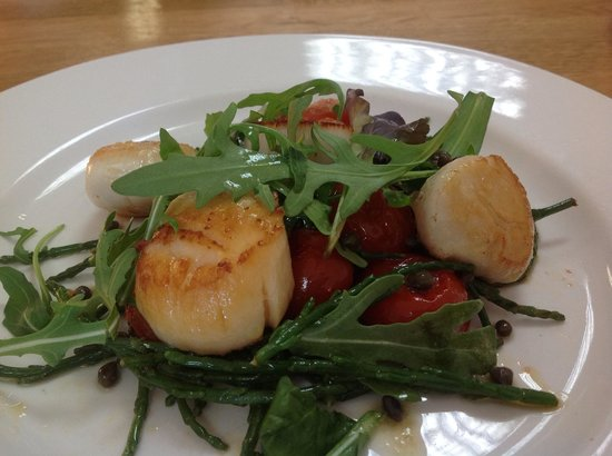 Halen Mor: Scallop Salad