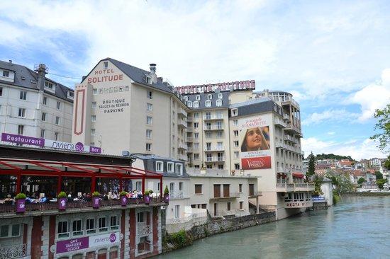 Hotel La Solitude : backside of the hotel
