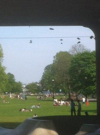 Courtyard Stockholm Kungsholmen: Park across street