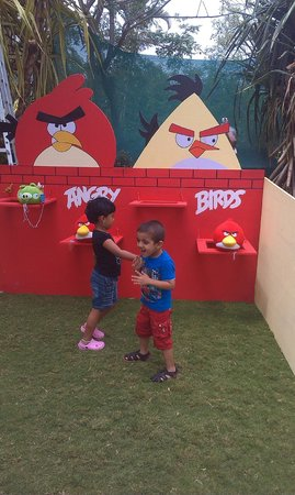 Chairman's Resort: Son loved Angry bird activity