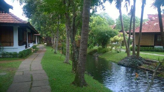 Kumarakom Lake Resort: Path to villas