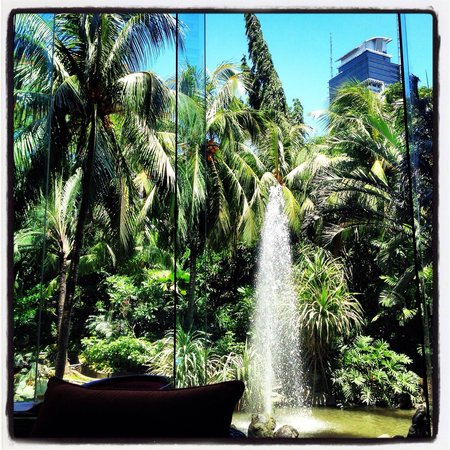 Edsa Shangri-La: View from the lobby lounge