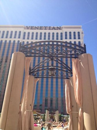 The Venetian Las Vegas: View from my pool chair