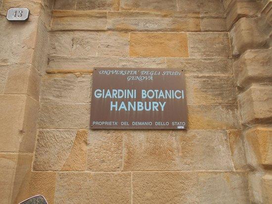 Giardini Botanici Hanbury: ingresso