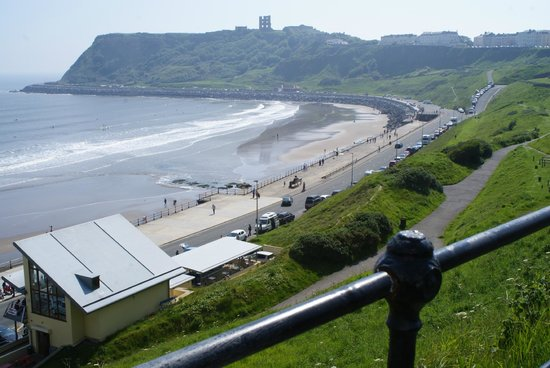 The Clifton Hotel - Scarborough: view of North Bay from the road outside the hotel