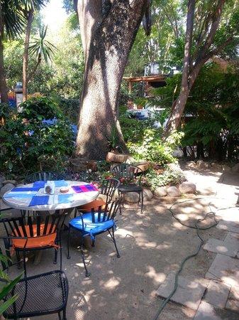 Meson de Leyendas: jardín para desayunar