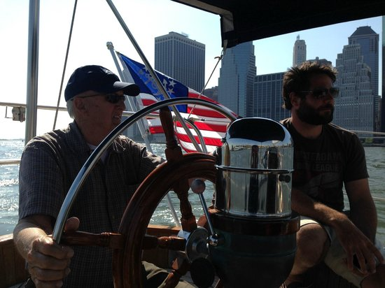 Narwhal Yacht Charters : Eric even let Dad sail!