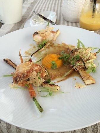 Cru: Prato Principal de Frango com Cenoura e Mandioquinha