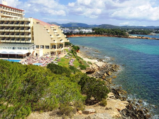 Sol Beach House Ibiza by Melia : view from hillside beside the hotel