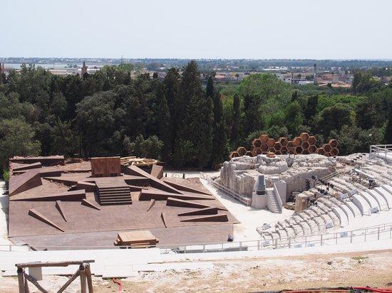 Ortigia : Greek theatre ready for today's production
