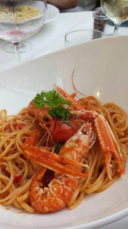 Restaurant Castello -Hotel Acropolis: Pasta m havskräftor