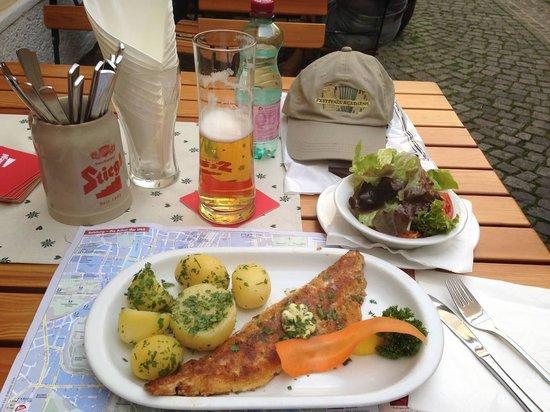 Gasthaus Wilder Mann: Delicious fish special!