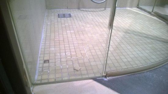 Steigenberger Airport Hotel: Fehlende Dichtung an der Dusche