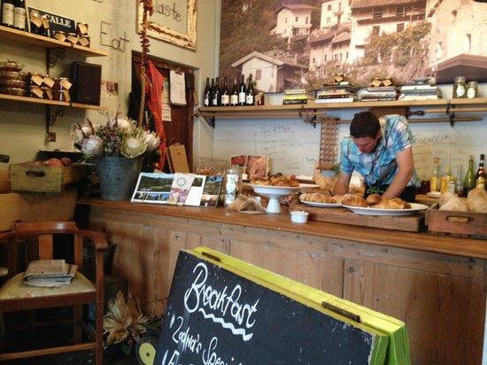 Graze Slow Food Cafe: Inside Graze with Alex hard at work.