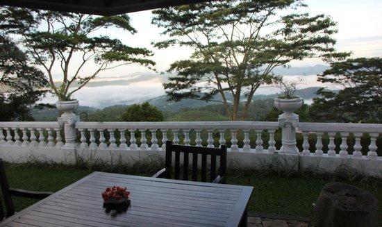 Ashburnham Estate : Breakfast table, early morning