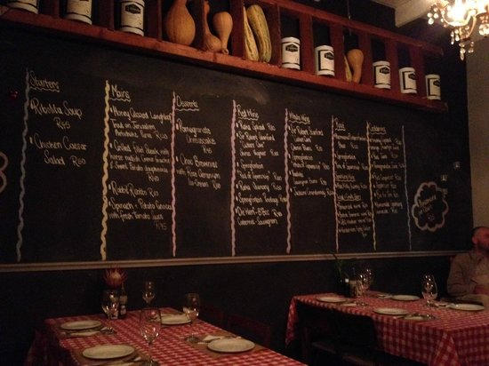 Graze Slow Food Cafe: Friday Night Menu