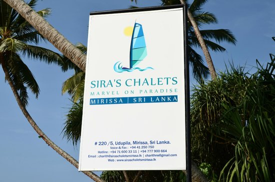 Sira's Chalets Mirissa : Spot this in the middle of the beach