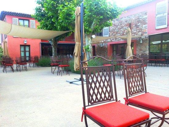 La Bastide du Clos des Roses : terrasse du restaurant