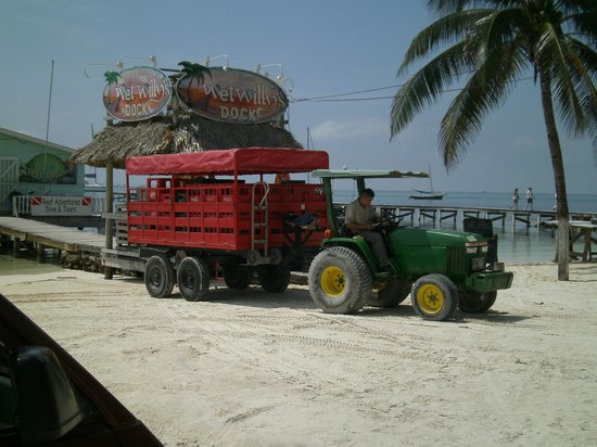 Caye Casa: beverage delivery truck
