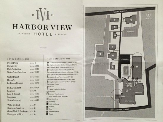 Harbor View Hotel: Hotel map