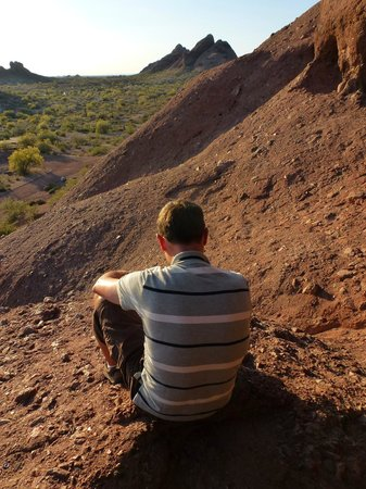 Sat in the hole in the rock