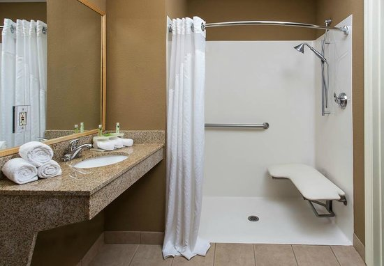 Holiday Inn Express Clermont: A Roll In Shower for our ADA Guests