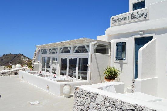 Santorini's Balcony: The hotel.