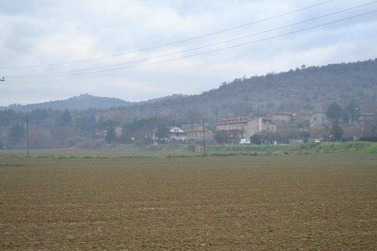 Castiglione della Valle, Italien: Across the fields, Casa Nestore
