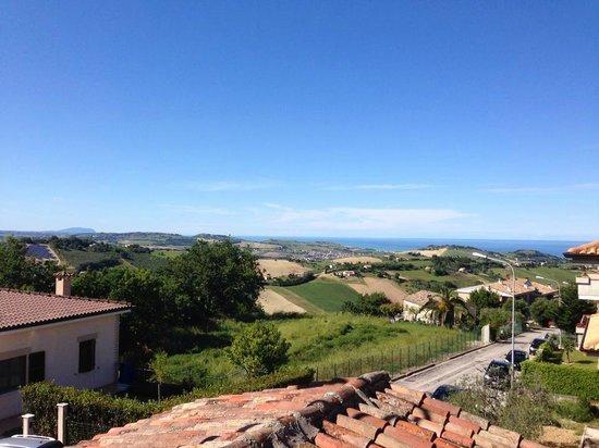 Didacus Ristorante: La vista dal balconcino del ristorante...