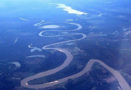 Araras Pantanal Ecolodge: Il Pantanal dall'aereo