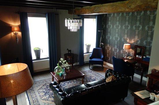 Kasteel Daelenbroeck: Foto vanaf de trap naar de slaapkamer.