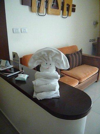 Grand Sirenis Mayan Beach Resort & Spa : towel animals
