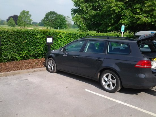 Mottram Hall : Our very own parking space!