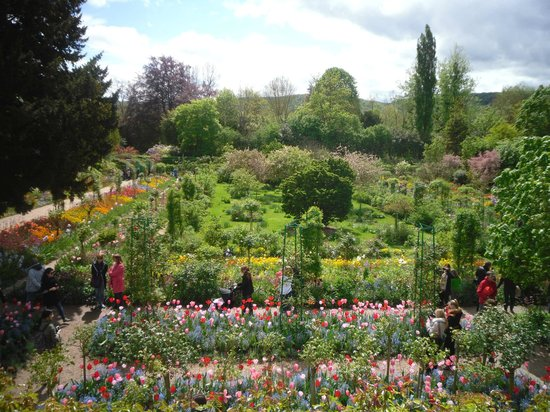 Claude Monet's House and Gardens: Monet's garden from house.