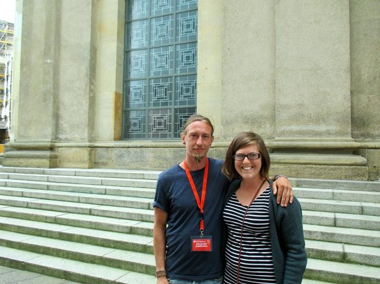 SANDEMANs NEW Europe: Me with the tour guide Zabi at the end of the tour.