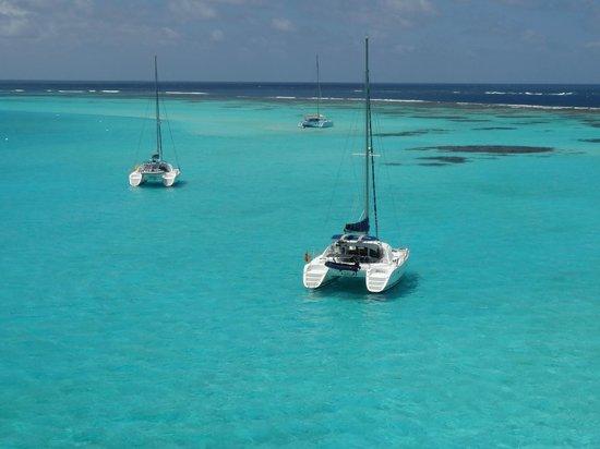 Tobago Cays: Le lagon vu du mat