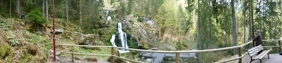 Triberger Waterfall: Panorama view of the falls