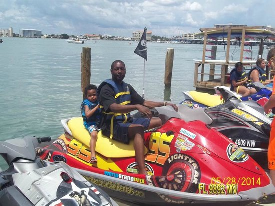 Clearwater Beach Jet Ski  Rentals and Guided Tours: My 3 year old and hubby