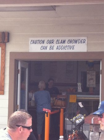 Spud Point Crab Company : The sign speaks the truth!