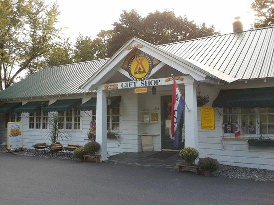Brattleboro North KOA Journey : Registration and Store