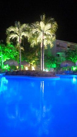 Hotel La Pagerie: La piscine by night
