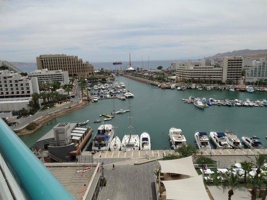 Crowne Plaza Hotel Eilat : Видс9этажа на залив и море