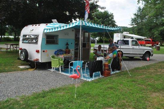 Brattleboro North KOA Journey: Vintage Camper Rallies Twice a Season